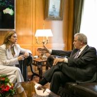 Με τον Αντιπρόεδρο της ΝΔ και Υπουργό Εθνικής Άμυνας, Δημήτρη Αβραμόπουλο