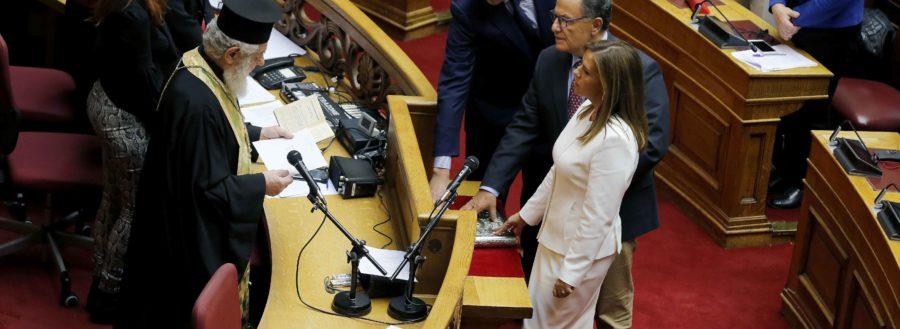 Με ιδιαίτερη συγκίνηση και αίσθημα μεγάλης ευθύνης ανέλαβα τα καθήκοντά μου χθες ως Βουλευτή της Β Περιφέρειας Αθηνών